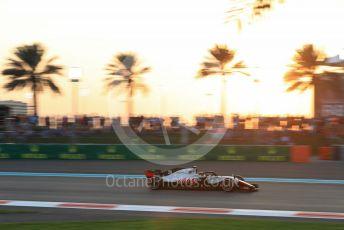 World © Octane Photographic Ltd. Formula 1 –  Abu Dhabi GP - Qualifying. Haas F1 Team VF-18 – Kevin Magnussen. Yas Marina Circuit, Abu Dhabi. Saturday 24th November 2018.
