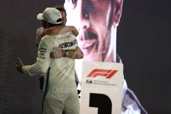 World © Octane Photographic Ltd. Formula 1 –  Abu Dhabi GP - Parc Ferme. Mercedes AMG Petronas Motorsport AMG F1 W09 EQ Power+ - Lewis Hamilton. Yas Marina Circuit, Abu Dhabi. Sunday 25th November 2018.