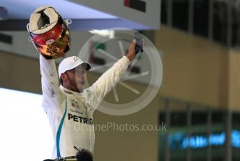 World © Octane Photographic Ltd. Formula 1 – Abu Dhabi GP - Parc Ferme. Mercedes AMG Petronas Motorsport AMG F1 W09 EQ Power+ - Lewis Hamilton. Yas Marina Circuit, Abu Dhabi. Sunday 25th November 2018.