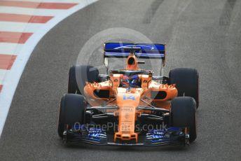 World © Octane Photographic Ltd. Formula 1 –  Abu Dhabi GP - Race. McLaren MCL33 – Fernando Alonso. Yas Marina Circuit, Abu Dhabi. Sunday 25th November 2018.