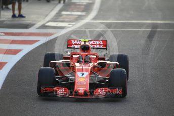 World © Octane Photographic Ltd. Formula 1 –  Abu Dhabi GP - Race. Scuderia Ferrari SF71-H – Kimi Raikkonen. Yas Marina Circuit, Abu Dhabi. Sunday 25th November 2018.
