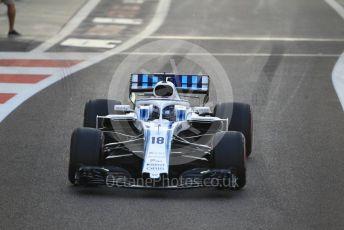 World © Octane Photographic Ltd. Formula 1 –  Abu Dhabi GP - Race. Williams Martini Racing FW41 – Lance Stroll. Yas Marina Circuit, Abu Dhabi. Sunday 25th November 2018.