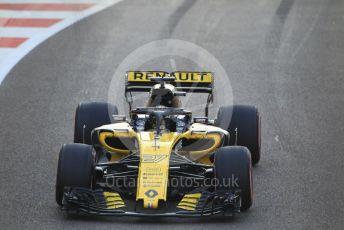 World © Octane Photographic Ltd. Formula 1 –  Abu Dhabi GP - Race. Renault Sport F1 Team RS18 – Nico Hulkenberg. Yas Marina Circuit, Abu Dhabi. Sunday 25th November 2018.