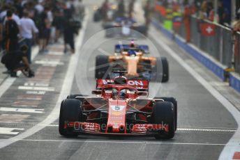 World © Octane Photographic Ltd. Formula 1 –  Abu Dhabi GP - Race. Scuderia Ferrari SF71-H – Sebastian Vettel and McLaren MCL33 – Fernando Alonso. Yas Marina Circuit, Abu Dhabi. Sunday 25th November 2018.