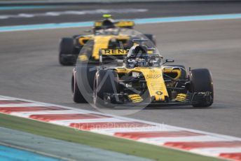 World © Octane Photographic Ltd. Formula 1 –  Abu Dhabi GP - Race. Renault Sport F1 Team RS18 – Nico Hulkenberg and Carlos Sainz. Yas Marina Circuit, Abu Dhabi. Sunday 25th November 2018.