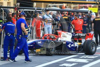 World © Octane Photographic Ltd. FIA Formula 2 (F2) – Abu Dhabi GP - Practice. Trident - Arjun Maini. Yas Marina Circuit, Abu Dhabi. Friday 23rd November 2018.