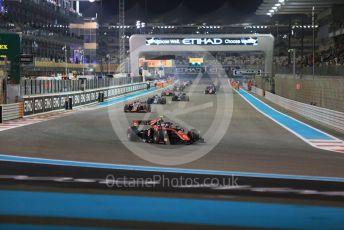World © Octane Photographic Ltd. FIA Formula 2 (F2) – Abu Dhabi GP - Race 1 green flag lap. ART Grand Prix - George Russell. Yas Marina Circuit, Abu Dhabi. Saturday 24th November 2018.