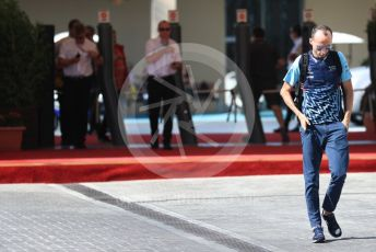 World © Octane Photographic Ltd. Formula 1 –  Abu Dhabi GP - Paddock. Williams Martini Racing FW41 – Robert Kubica. Yas Marina Circuit, Abu Dhabi. Friday 23rd November 2018.