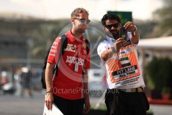 World © Octane Photographic Ltd. Formula 1 –  Abu Dhabi GP - Paddock. Scuderia Ferrari SF71-H – Sebastian Vettel. Yas Marina Circuit, Abu Dhabi. Friday 23rd November 2018.