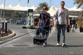 World © Octane Photographic Ltd. Formula 1 - Abu Dhabi GP - Paddock. Claire Williams - Deputy Team Principal of Williams Martini Racing. Yas Marina Circuit, Abu Dhabi. Friday 23rd November 2018.