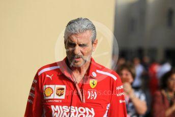 World © Octane Photographic Ltd. Formula 1 - Abu Dhabi GP - Paddock. Maurizio Arrivabene – Managing Director and Team Principal of Scuderia Ferrari. Yas Marina Circuit, Abu Dhabi. Sunday 25th November 2018.