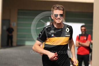 World © Octane Photographic Ltd. Formula 1 – Abu Dhabi GP - Paddock. Renault Sport F1 Team RS18 – Nico Hulkenberg. Yas Marina Circuit, Abu Dhabi. Sunday 25th November 2018.