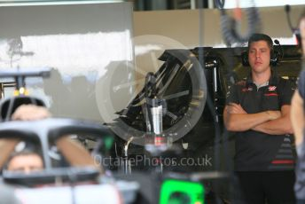 World © Octane Photographic Ltd. Formula 1 –  Abu Dhabi GP - Paddock. Haas F1 Team VF-18. Yas Marina Circuit, Abu Dhabi. Sunday 25th November 2018.