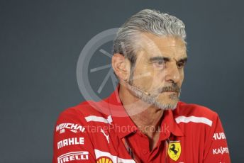 World © Octane Photographic Ltd. Formula 1 - United States GP – Friday FIA Team Press Conference. Maurizio Arrivabene – Managing Director and Team Principal of Scuderia Ferrari. Yas Marina Circuit, Abu Dhabi. Friday 23rd November 2018.
