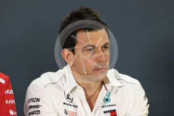 World © Octane Photographic Ltd. Formula 1 - United States GP - Friday FIA Team Press Conference. Toto Wolff - Executive Director & Head of Mercedes - Benz Motorsport. Yas Marina Circuit, Abu Dhabi. Friday 23rd November 2018.