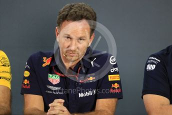World © Octane Photographic Ltd. Formula 1 - United States GP - Friday FIA Team Press Conference. Christian Horner - Team Principal of Red Bull Racing. Yas Marina Circuit, Abu Dhabi. Friday 23rd November 2018.