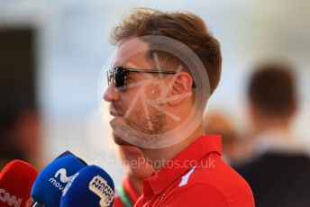 World © Octane Photographic Ltd. Formula 1 – Abu Dhabi GP - Paddock. Scuderia Ferrari SF71-H – Sebastian Vettel. Yas Marina Circuit, Abu Dhabi. Thursday 22nd November 2018.