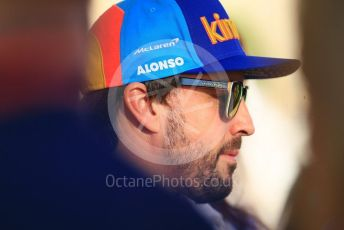 World © Octane Photographic Ltd. Formula 1 –  Abu Dhabi GP - Paddock. McLaren MCL33 – Fernando Alonso. Yas Marina Circuit, Abu Dhabi. Thursday 22nd November 2018.