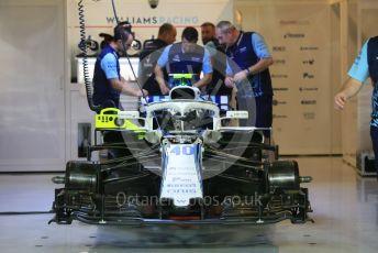 World © Octane Photographic Ltd. Formula 1 –  Abu Dhabi GP - Pit Lane. Williams Martini Racing FW41 – Robert Kubica. Yas Marina Circuit, Abu Dhabi. Thursday 22nd November 2018.