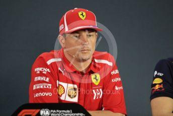 World © Octane Photographic Ltd. Formula 1 – Abu Dhabi GP - FIA Drivers' Press Conference. Scuderia Ferrari – Kimi Raikkonen. Yas Marina Circuit, Abu Dhabi. Thursday 22nd November 2018.