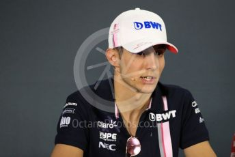 World © Octane Photographic Ltd. Formula 1 – Abu Dhabi GP - FIA Drivers' Press Conference. Racing Point Force India - Esteban Ocon. Yas Marina Circuit, Abu Dhabi. Thursday 22nd November 2018.