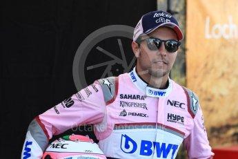 World © Octane Photographic Ltd. Formula 1 – Australian GP - Driver Photo Call. Sahara Force India VJM11 - Sergio Perez. Albert Park, Melbourne, Australia. Thursday 22nd March 2018.