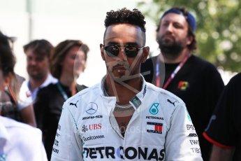 World © Octane Photographic Ltd. Formula 1 – Australian GP - Driver Photo Call. Mercedes AMG Petronas Motorsport AMG F1 W09 EQ Power+ - Lewis Hamilton. Albert Park, Melbourne, Australia. Thursday 22nd March 2018.