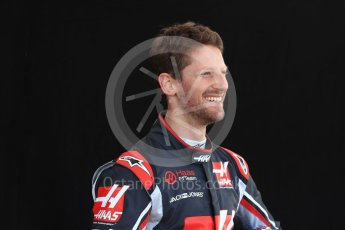 World © Octane Photographic Ltd. Formula 1 – Australian GP - Driver Photo Call. Haas F1 Team VF-18 – Romain Grosjean. Albert Park, Melbourne, Australia. Thursday 22nd March 2018.