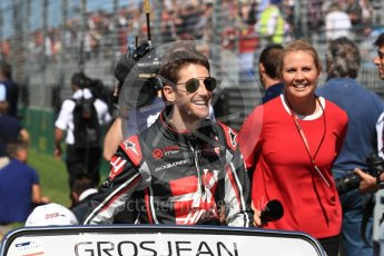World © Octane Photographic Ltd. Formula 1 – Australian GP - Drivers' Parade. Haas F1 Team VF-18 – Romain Grosjean. Albert Park, Melbourne, Australia. Sunday 25th March 2018.