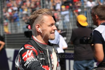 World © Octane Photographic Ltd. Formula 1 – Australian GP - Drivers' Parade. Haas F1 Team VF-18 – Kevin Magnussen. Albert Park, Melbourne, Australia. Sunday 25th March 2018.