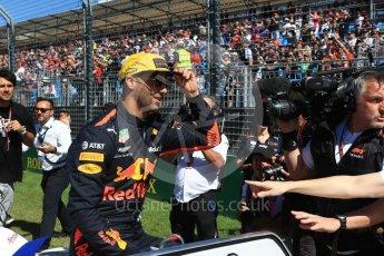 World © Octane Photographic Ltd. Formula 1 – Australian GP - Drivers' Parade. Aston Martin Red Bull Racing TAG Heuer RB14 – Daniel Ricciardo. Albert Park, Melbourne, Australia. Sunday 25th March 2018.