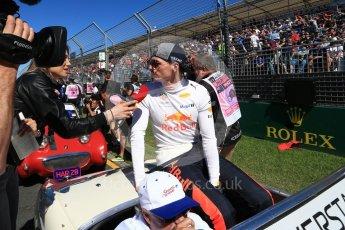 World © Octane Photographic Ltd. Formula 1 – Australian GP - Drivers' Parade. Aston Martin Red Bull Racing TAG Heuer RB14 – Max Verstappen. Albert Park, Melbourne, Australia. Sunday 25th March 2018.