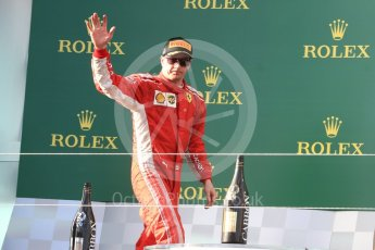 World © Octane Photographic Ltd. Formula 1 – Australian GP - Podium. Scuderia Ferrari SF71-H – Kimi Raikkonen. Albert Park, Melbourne, Australia. Sunday 25th March 2018.