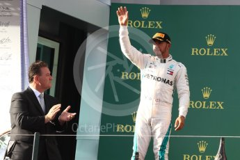World © Octane Photographic Ltd. Formula 1 – Australian GP - Podium. Mercedes AMG Petronas Motorsport AMG F1 W09 EQ Power+ - Lewis Hamilton. Albert Park, Melbourne, Australia. Sunday 25th March 2018.