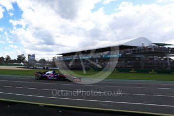 World © Octane Photographic Ltd. Formula 1 – Australian GP - Race. Scuderia Toro Rosso STR13 – Brendon Hartley. Albert Park, Melbourne, Australia. Sunday 25th March 2018.