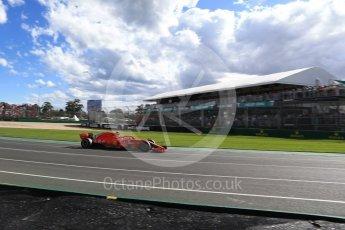 World © Octane Photographic Ltd. Formula 1 – Australian GP - Race. Scuderia Ferrari SF71-H – Kimi Raikkonen. Albert Park, Melbourne, Australia. Sunday 25th March 2018.