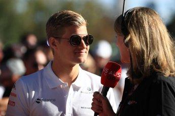 World © Octane Photographic Ltd. Formula 1 – Australian GP - Friday Melbourne Walk. Alfa Romeo Sauber F1 Team C37 – Marcus Ericsson. Albert Park, Melbourne, Australia. Friday 23rd March 2018.