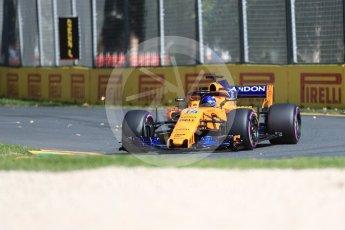 World © Octane Photographic Ltd. Formula 1 – Australian GP - Friday Practice 1. McLaren MCL33 – Fernando Alonso. Albert Park, Melbourne, Australia. Friday 23rd March 2018.