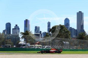 World © Octane Photographic Ltd. Formula 1 – Australian GP - Friday Practice 1. Aston Martin Red Bull Racing TAG Heuer RB14 – Max Verstappen. Albert Park, Melbourne, Australia. Friday 23rd March 2018.