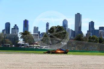 World © Octane Photographic Ltd. Formula 1 – Australian GP - Friday Practice 1. McLaren MCL33 – Stoffel Vandoorne. Albert Park, Melbourne, Australia. Friday 23rd March 2018.