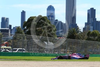 World © Octane Photographic Ltd. Formula 1 – Australian GP - Friday Practice 1. Sahara Force India VJM11 - Esteban Ocon. Albert Park, Melbourne, Australia. Friday 23rd March 2018.