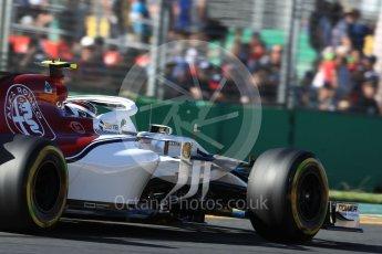 World © Octane Photographic Ltd. Formula 1 – Australian GP - Friday Practice 2. Alfa Romeo Sauber F1 Team C37 – Charles Leclerc. Albert Park, Melbourne, Australia. Friday 23rd March 2018.