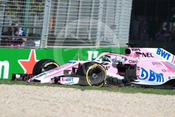 World © Octane Photographic Ltd. Formula 1 – Australian GP - Friday Practice 2. Sahara Force India VJM11 - Sergio Perez. Albert Park, Melbourne, Australia. Friday 23rd March 2018.