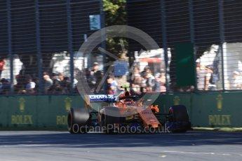 World © Octane Photographic Ltd. Formula 1 – Australian GP - Friday Practice 2. McLaren MCL33 – Stoffel Vandoorne. Albert Park, Melbourne, Australia. Friday 23rd March 2018.