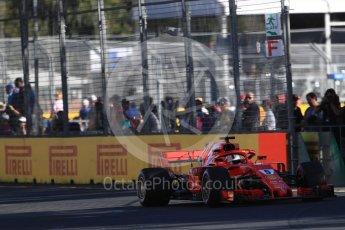 World © Octane Photographic Ltd. Formula 1 – Australian GP - Friday Practice 2. Scuderia Ferrari SF71-H – Sebastian Vettel. Albert Park, Melbourne, Australia. Friday 23rd March 2018.