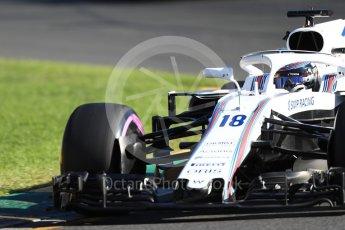 World © Octane Photographic Ltd. Formula 1 – Australian GP - Friday Practice 2. Williams Martini Racing FW41 – Lance Stroll. Albert Park, Melbourne, Australia. Friday 23rd March 2018.