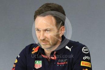 World © Octane Photographic Ltd. Formula 1 - Australian GP - Friday - Team Press Conference. Christian Horner - Team Principal of Red Bull Racing. Albert Park, Melbourne, Australia. Friday 23rd March 2018.