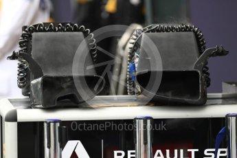 World © Octane Photographic Ltd. Formula 1 – Australian GP - Practice 3. Renault Sport F1 Team RS18 brake cooling fans. Albert Park, Melbourne, Australia. Saturday 24th March 2018.