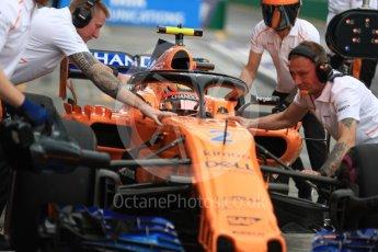 World © Octane Photographic Ltd. Formula 1 – Australian GP - Practice 3. McLaren MCL33 – Stoffel Vandoorne. Albert Park, Melbourne, Australia. Saturday 24th March 2018.