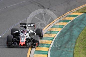 World © Octane Photographic Ltd. Formula 1 – Australian GP - Qualifying. Haas F1 Team VF-18 – Romain Grosjean. Albert Park, Melbourne, Australia. Saturday 24th March 2018.